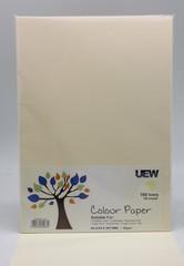 UEW Colour Paper A4 80gms - 100 Ivory (100pcs/pack)