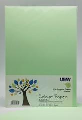 UEW Colour Paper A4 80gms - 130 Light Green Lagoon(100pcs/pack)