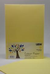 UEW Colour Paper A4 80gms - 160 Yellow (100pcs/pack)