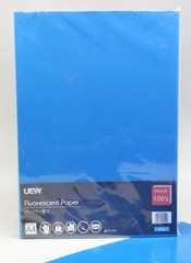 Fluorescent Paper A4 UEW 100's Blue