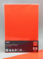 Fluorescent Paper A4 UEW 100's Red