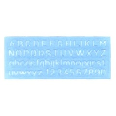 ABC TEMPLATE 20MM 750 CAPITAL & SMALL LETTERING