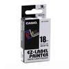 LABEL CART CASIO XR-18WE1 BLK ON WHT