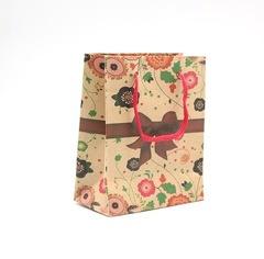 KRAFT PAPER BAG 14.5x11.5X6CM (YX-301F) FANCY DESIGN