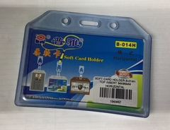 SOFT CARD HOLDER B-014H TOP INSERT 54X85MM HORIZONTAL