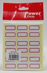 INDEX LABEL POWERLINE 22R 180's RED 27x34MM