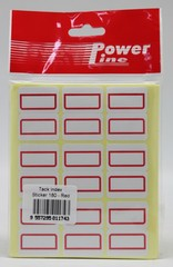 INDEX LABEL POWERLINE 22R 180's RED 27x34MM