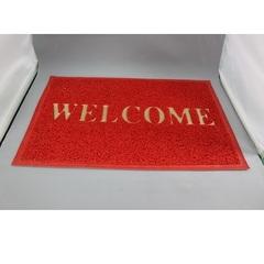 "PVC Floor Mat (L) 60x80cm RED ""WELCOME"""