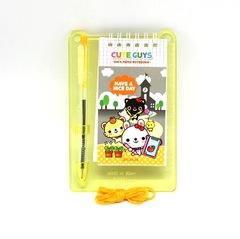 Necklace hard board note pad+pen Cute Guys (Friends)