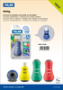 Milan Sway Sharpener+Eraser + Eraser Refill Blister BYM10346