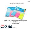 DEAL005#2 PADS Sticky Flag Film PET-1250-5 Neon Colour 12x50MM