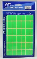 Label sticker 19x30 UEW 10's Colour -Green