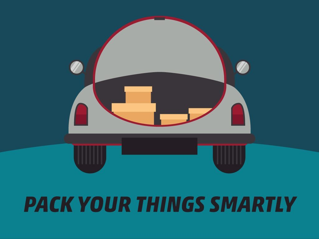 Getting Car Ready for a Long Trip Tip #6: Pack Your Things Smartly