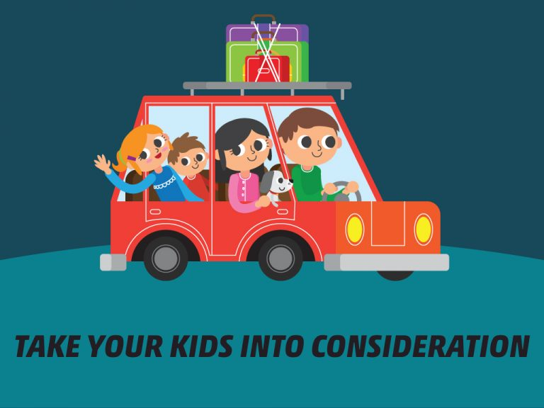 Getting Car Ready for a Long Trip Tip #8: Take Your Kids Into Consideration