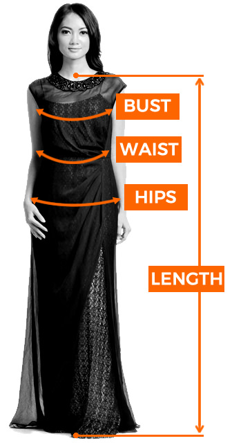 Sizing guide gown