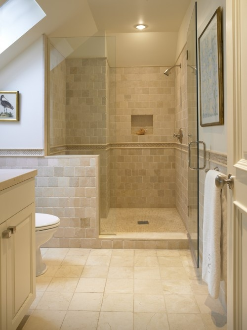 waterproof stone tile in bathroom - Bathroom Ideas Cream