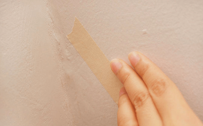 remove tape from the wall
