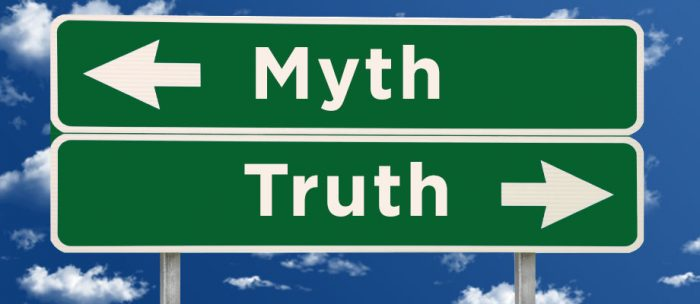 myth truth sign board