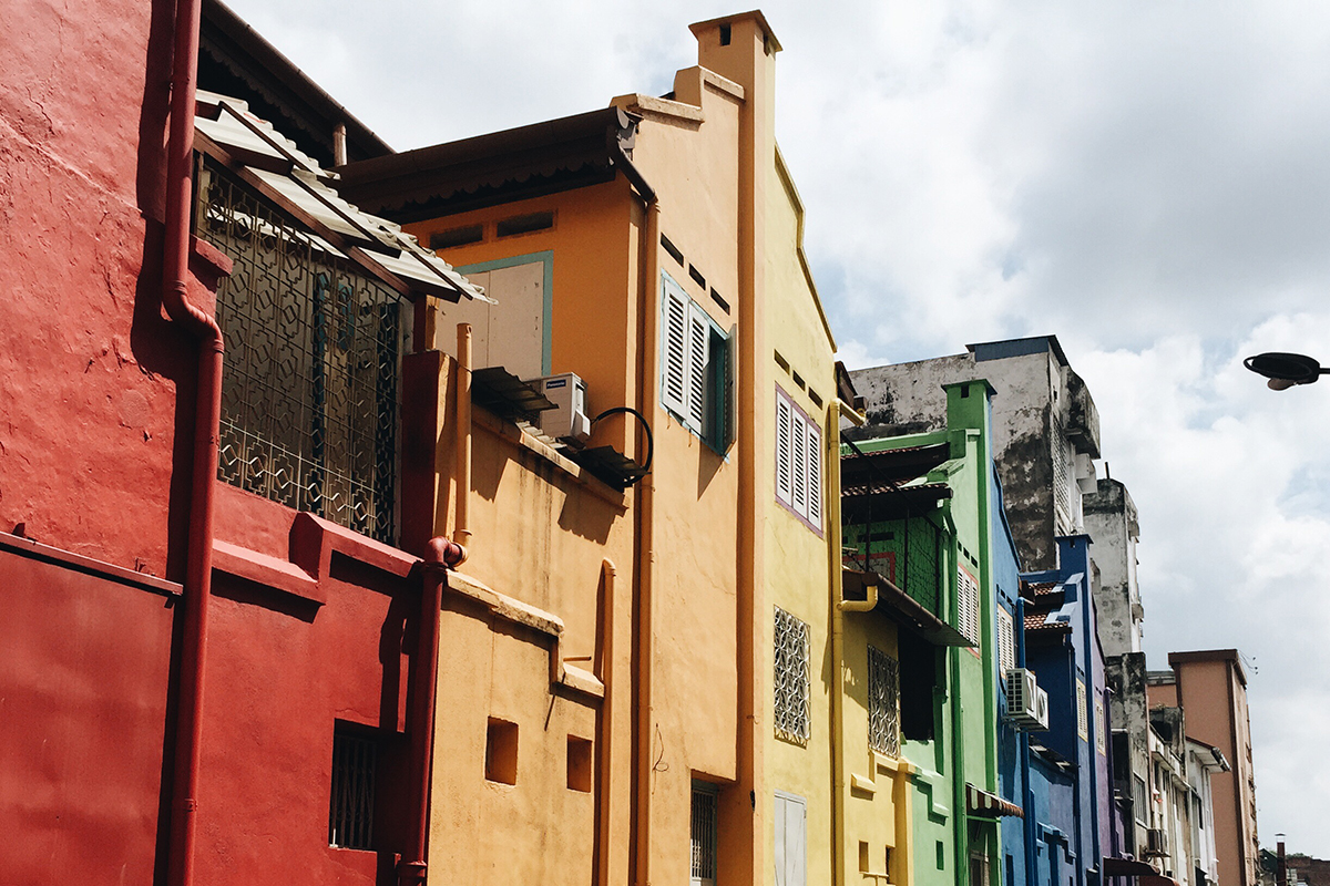 ipoh colourful buildings