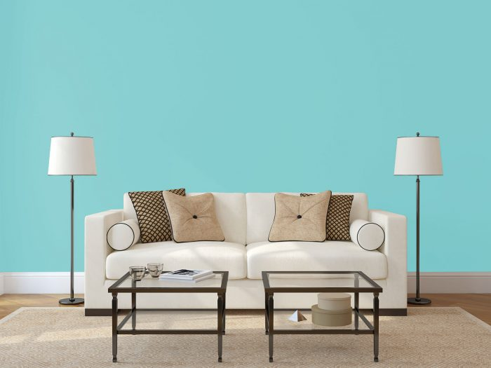wall colour - turquoise