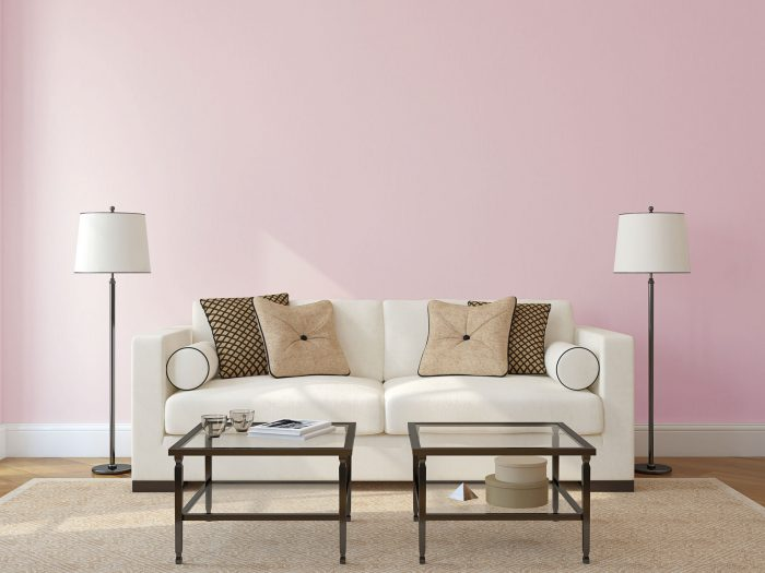 wall colour - dusty pink