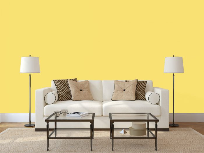 wall colour - bright yellow