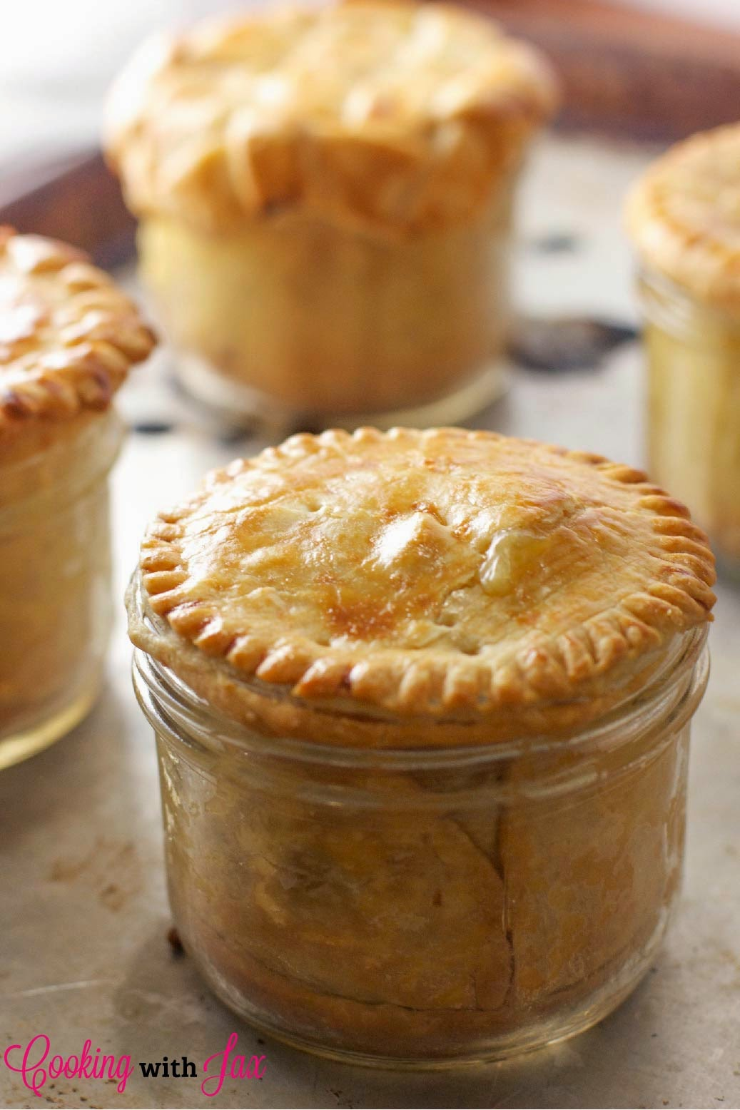 chicken-pot-pie in a jar