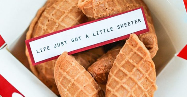 waffle fortune cookies