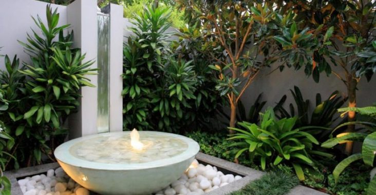 Beautiful white water feature