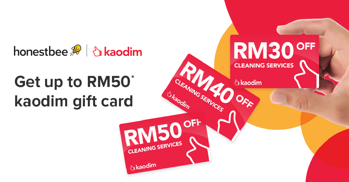 KaodimxHonestbee-Get up to RM50 eGift Card