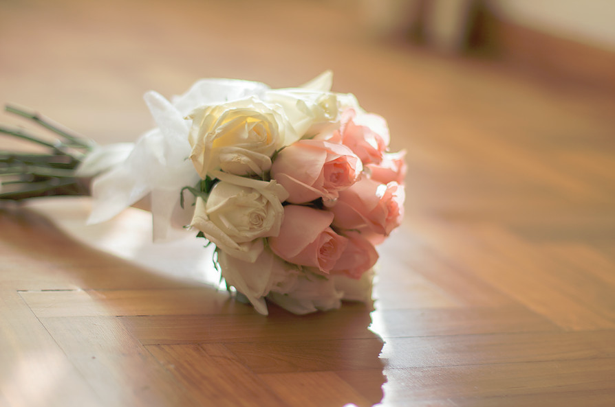 pretty soft wedding bouquet