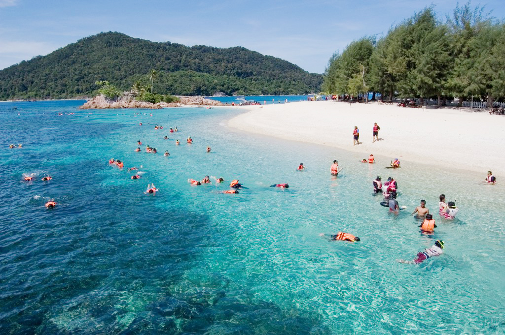 gorgeous blue beach in malaysia