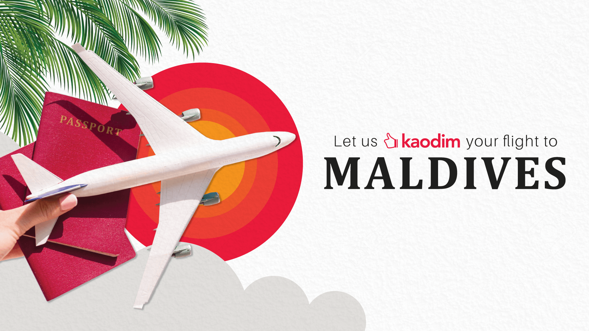 Let us Kaodim your flight to Maldives
