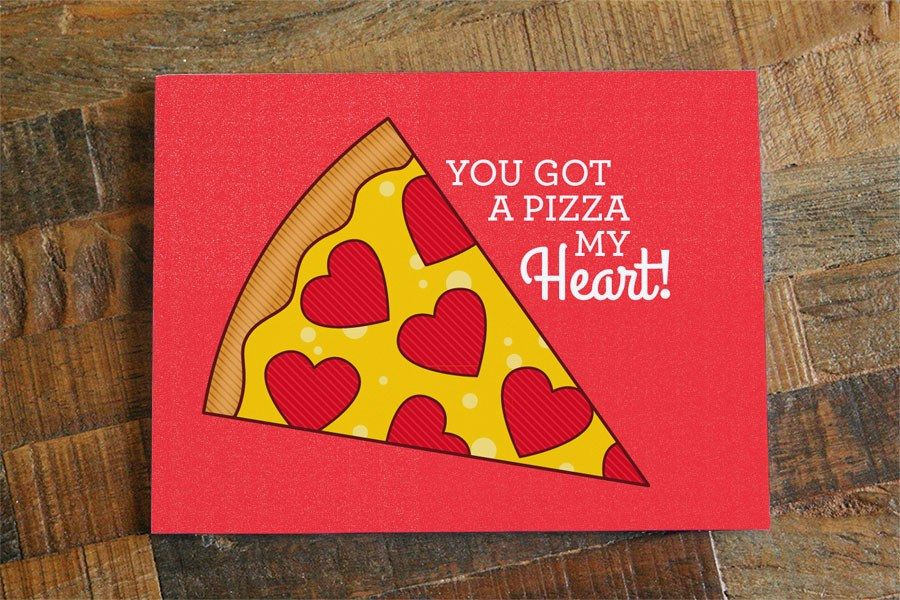 pizza heart valentine pun