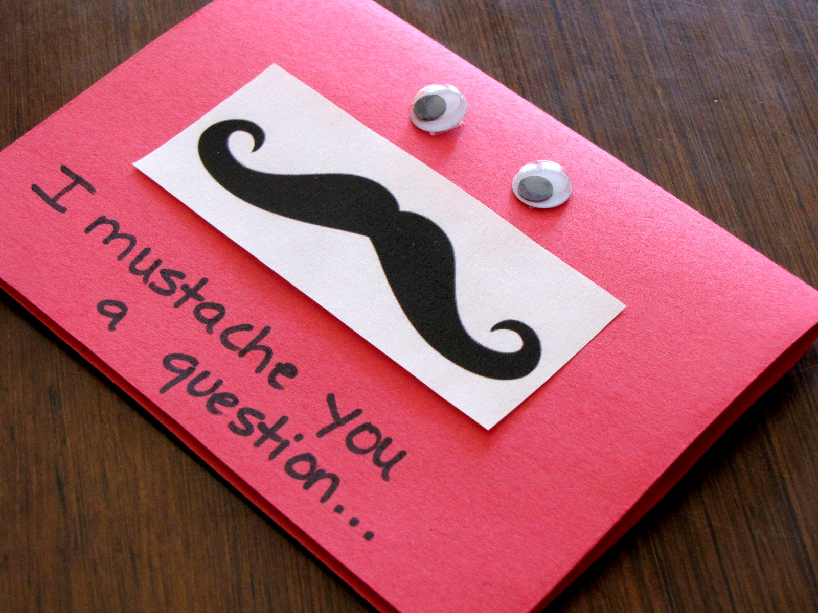 cheesy valentine card moustache