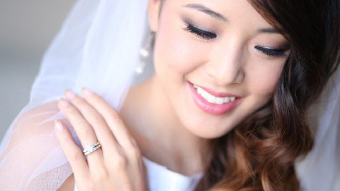 Beautiful waterproof bridal makeup
