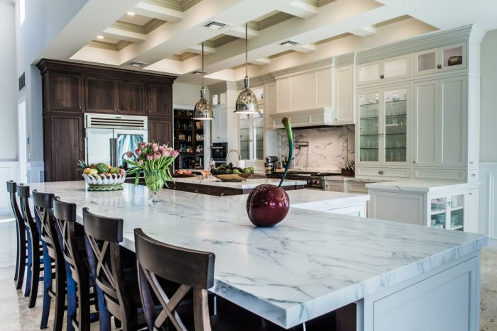 Beautiful marble kitchen countertops