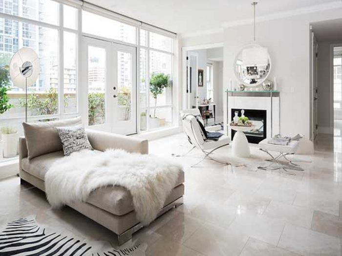 Luxurious marble flooring