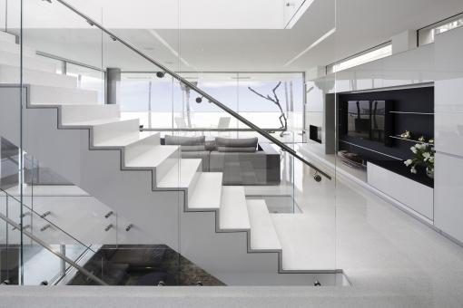 Modern marble stairs