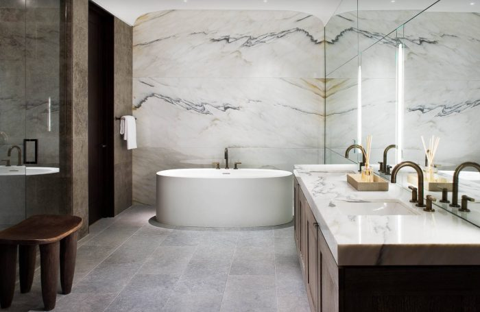 Luxurious marble bathroom