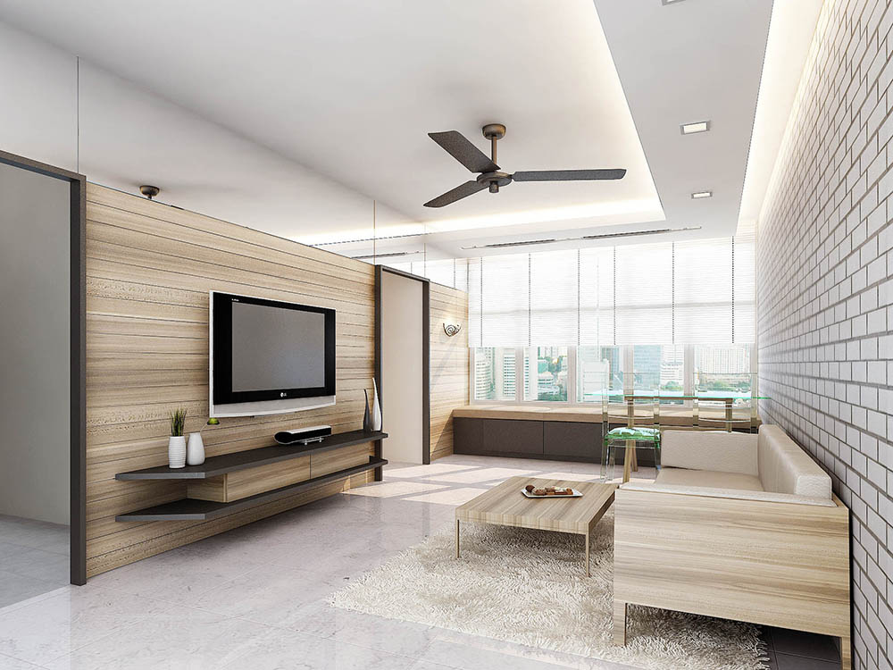 5 wonderful minimalist designs in malaysian homes for Interior design minimalist living room