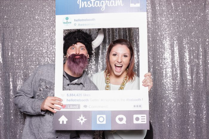 Instagram photo booth frame
