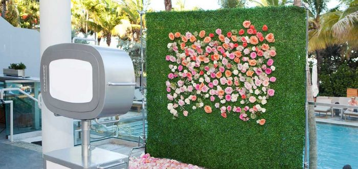 flowery photo booth