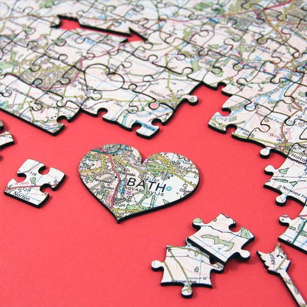 love-shaped puzzle piece