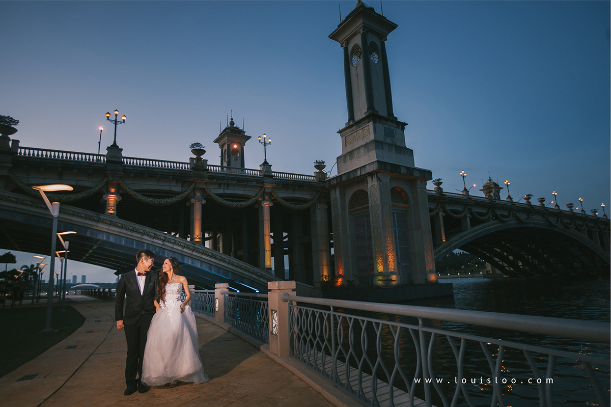 putrajaya bridge prewedding photoshoot