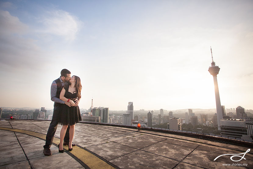 prewedding photography helipad kl