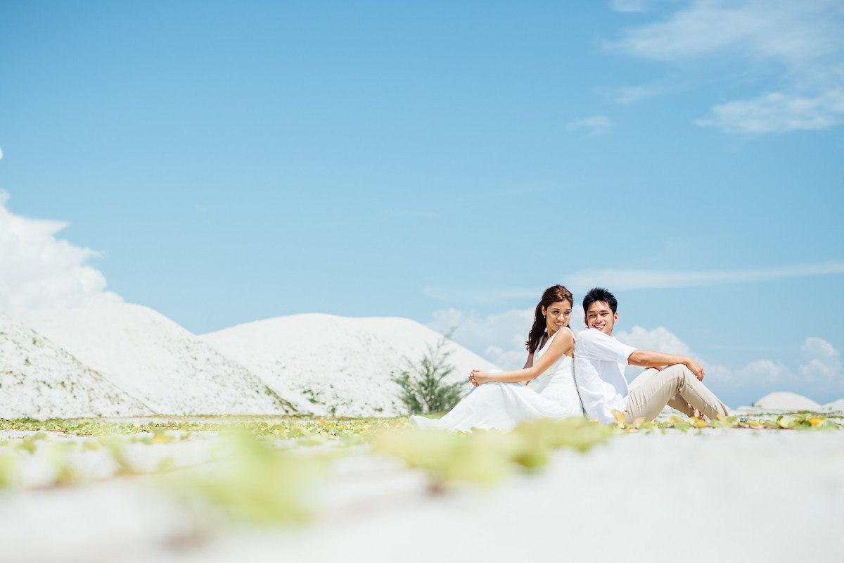Couple photoshoot in Pantai Klebang, Malacca