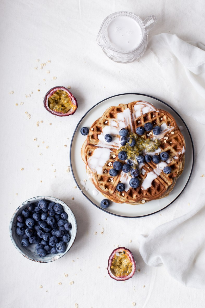 oat buckwheat waffles recipe