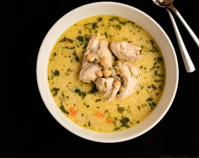 algerian white chicken soup