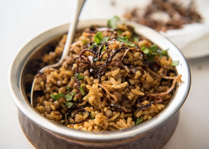 middle eastern spiced lentil and rice